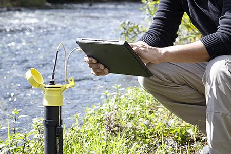 Wasserstand Datenlogger - Daten herunterladen
