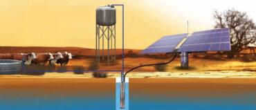 Solarbetriebene Wasserversorgung