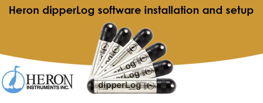 Heron dipperLog software installation and setup