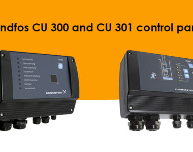 Grundfos CU 301 and CU 300 control panels
